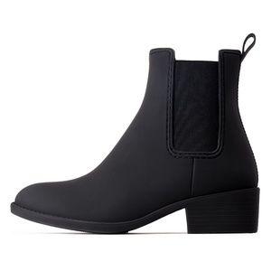 "Jeffrey Campbell size 6 ""Stormy"" Black Rain Boots"